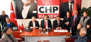 CHP milletvekilleri Kayseri'de