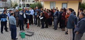 Kemer Belediyesi personeline iş sağlığı ve yangın eğitimi verildi