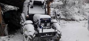 Hanönü ilçesindede kar yağışı