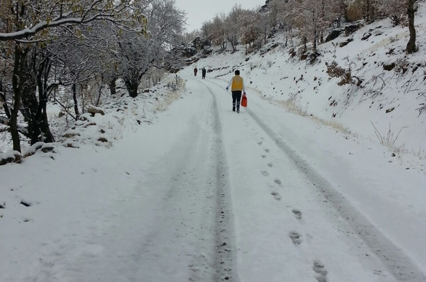 Kar nedeniyle mahsur kalan hasta kurtarıldı