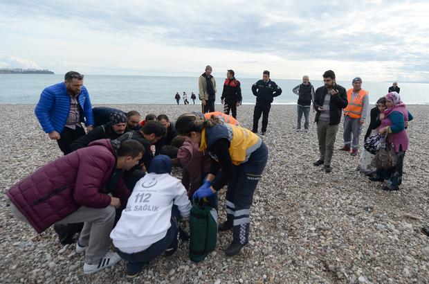 Çocukları kurtarmak için girdiği denizde boğuldu