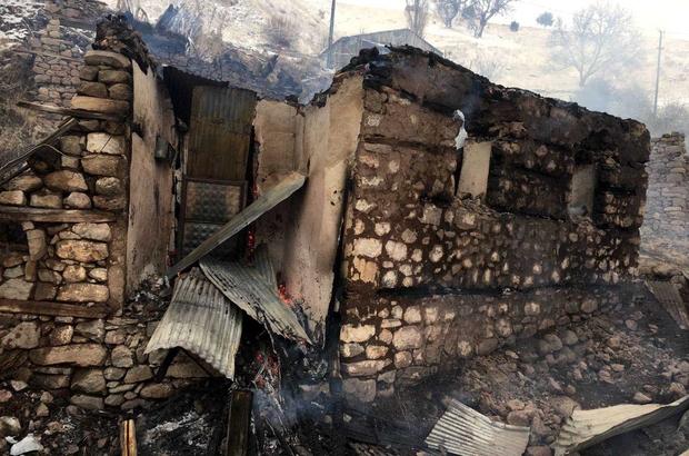 Sivas'ta ev yangını