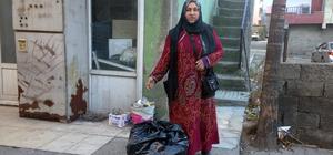 Suriyeli ailelere giyim ve gıda yardımı