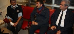 Belediye Başkanı Demirkol yaralı polisleri ziyaret etti