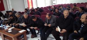 Çelikhan'da okul servis şoförlerine seminer verildi