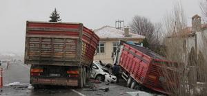 Yozgat'ta zincirleme trafik kazası: 4 yaralı