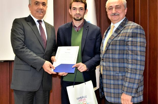 Rektör Sait Bilgiç OMÜ birincilerini kutladı