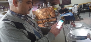 Tosya'da çay ocağı işletmecisi ''Whatsap çay isteme hattı'' kurdu