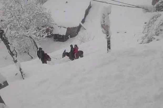 Hakkari'de 14 köy ve 36 mezra yolu ulaşıma kapandı