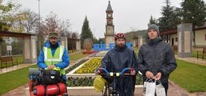 Soğuk hava koşulları ''Bisiklet Dostluğuna'' engel olmadı