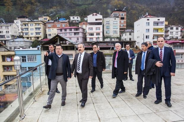 GRÜ Rektörü Coşkun'un ilçe ziyaretleri
