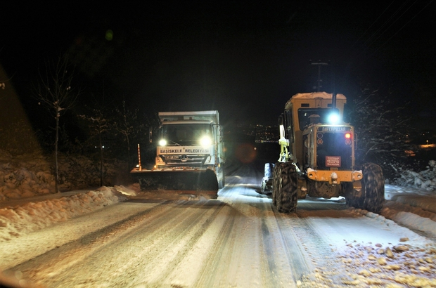 Başiskele Belediyesi karla mücadele için 123 personel 34 araçla hazır