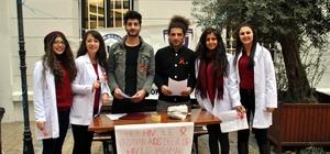 ADÜ Türk Hemşireler Derneği öğrencilerinden kurdeleli etkinlik