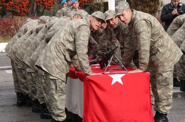 Elazığ'da kısa dönem askerler yemin etti