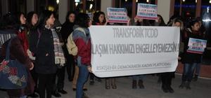 Trene alınmayan trans için Eskişehirli kadınlar ayaklandı