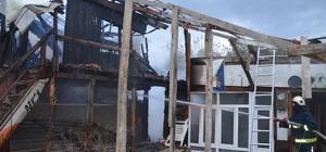 Mudanya'da baraka yangını