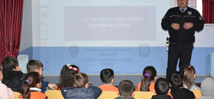 Gümüşhacıköy'de öğrencilere trafik eğitimi