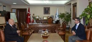 Başsavcı Karabacak, Rektör Gönüllü'yü ziyaret etti.