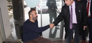 Vali Çınar'dan engellilere ziyaret