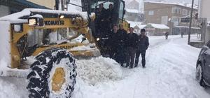 Maçka'da kar yağışı