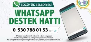 Bozüyük Belediyesi 'Whatsapp Destek Hattı' devrede