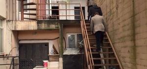 Alaplı'da yangın merdiveni denetimi
