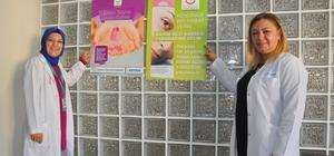 Belediyede çalışan kadın personeller kanser hakkında bilgilendirildi