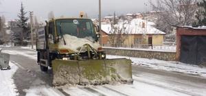Başkent'te karla mücadele