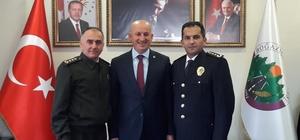 Başkan Ercan, Emniyet Müdürü ve Jandarma Komutanını ağırladı