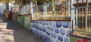 Okul duvarları boyatıldı