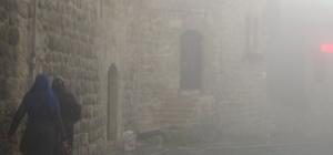 Mardin'de yoğun sis