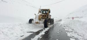 (ÖZEL HABER) Van Bahçesaray yolunda karla mücadele çalışmaları başladı