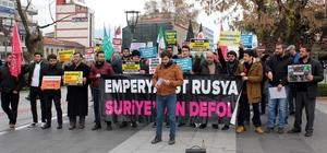 """""""Halep ölüyor, çığlığına ses ver"""" etkinliği"""