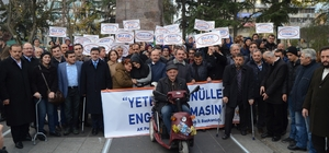 """Trabzon'da """"Yeter ki gönüller engelli olmasın"""" sloganıyla yürüyüş düzenlendi"""