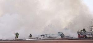Askeri restoranda çıkan yangın korkuttu