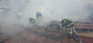Malatya'da askeri lojmanlarda yangın