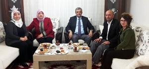 Vali Özefe ve eşi Hacer Özefe, gaziler derneği başkanına misafir oldu