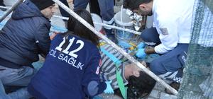 Lüleburgaz'da inşaattan düşen işçi yaralandı