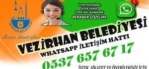 Vezirhan Belediyesi Whatsapp Destek Hattı açıldı