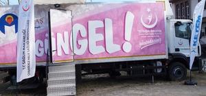Lapseki'de ücretsiz kanser tarama standı açıldı
