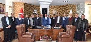 Kartepe Mevcut Muhtarlar Derneği, Başkan Üzülmez'i ziyaret etti