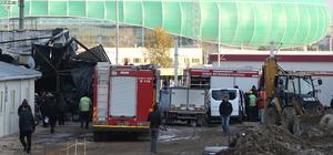 Bursa'da inşaat şantiyesinde yangın