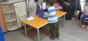 Anaokulunda demokrasi seçimi yapıldı