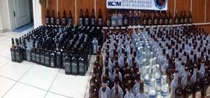 Uşak'ta  çok miktarda kaçak içki ele geçirildi