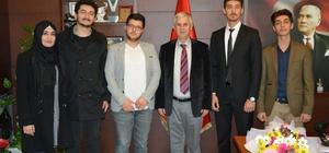 Söke'de üniversite bölüm temsilcisi öğrencilerinden Başkan Toyran'a ziyaret