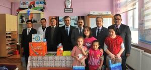 Akşehir Belediyesi'nden özel eğitim sınıflarına kırtasiye seti ve materyal desteği