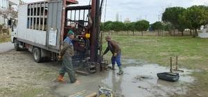 Burhaniye'de zemin etüdü yapılıyor