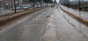 Harran'da sıcak asfalt çalışması