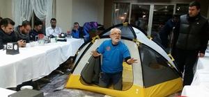 SETMOG üyelerine dağcılık ve kamp eğitimi