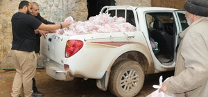 İHH Dabık'ta 400 aileye akika-adak eti dağıttı